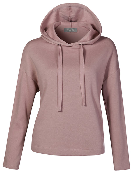 PREMIUM Womens Casual Soft Fleece Loose Fit Long Sleeve Hoodie Pullover Sweater (WSK4278)