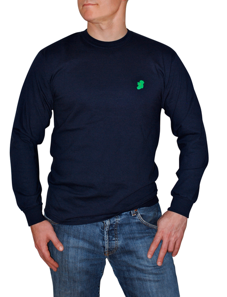 Navy Blue Long Sleeve Irish T Shirt by Ireland Shirt