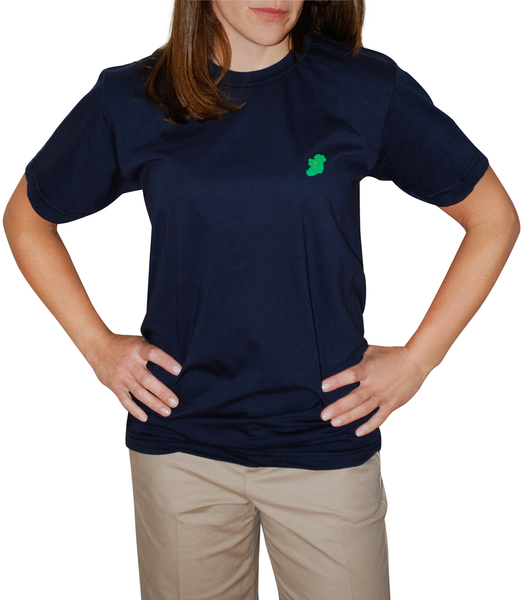 Ladies Navy Blue Short Sleeve Irish T Shirt by Ireland Shirt