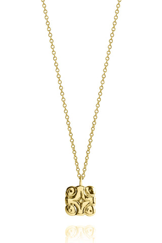 Necklace Gold - The Universe and the Stars Mayan Symbol