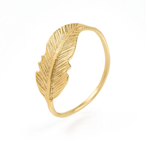 Ring Feather Gold