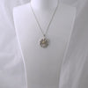 Sterling Silver CZ Sunflower Pendant w/Chain