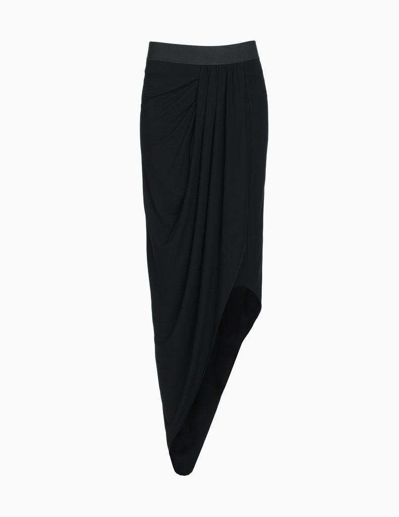 HIGH LOW GATHERED SKIRT