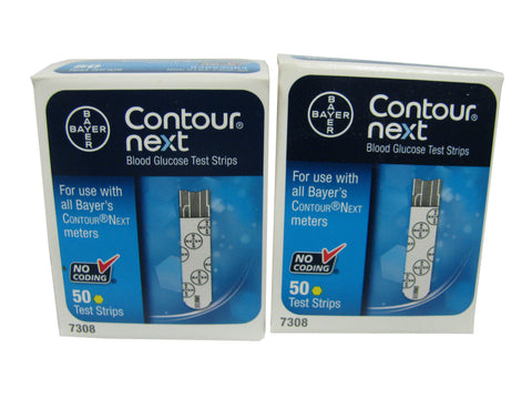 Bayer Contour Next NFRS, 2 boxes 50ct each, 100 strips