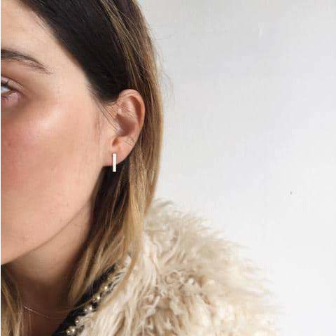 Bar Earrings | Sterling Silver, Rose & Gold