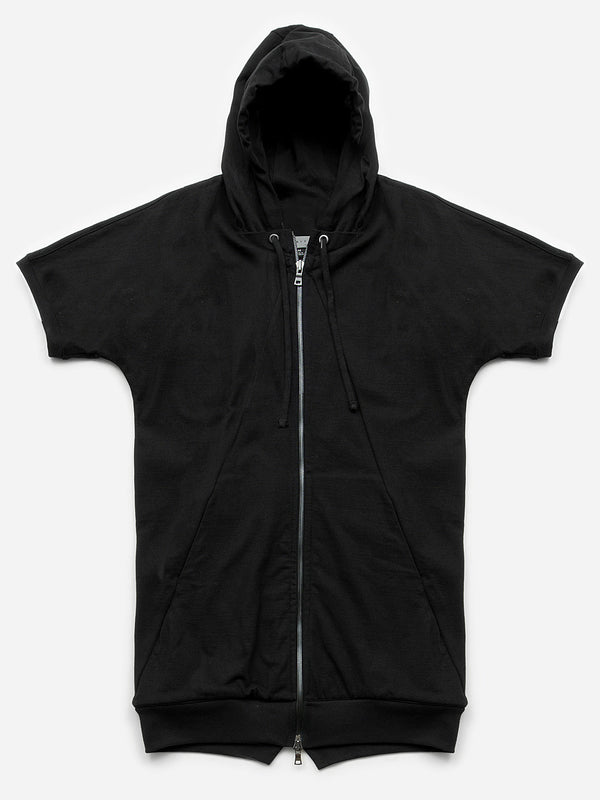 Argo Short Sleeve Full Zip Hoodie / Ash-Black, Men's, Clothing, Apparel - Drifter Industries