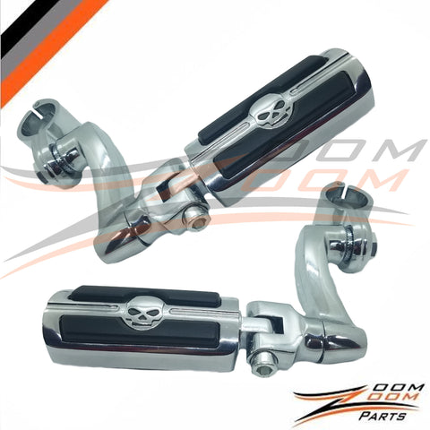 "1 1/4"" Frame Highway Foot Pegs Rest For Harley Honda Suzuki Touring Electra Rode King Street Guide Shadow Goldwing"