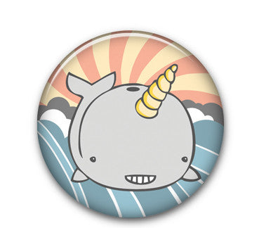 "Narwhal 1.25"" button"