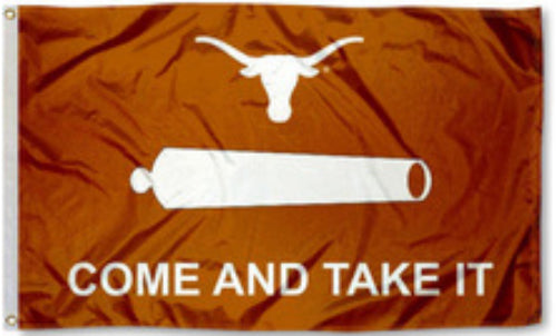 Texas Long Horn Come and Take It Flag
