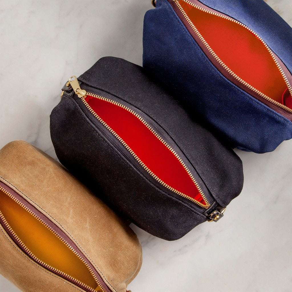 Handmade Waxed Canvas Dopp Kit