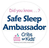 Safe Sleep Ambassador Button