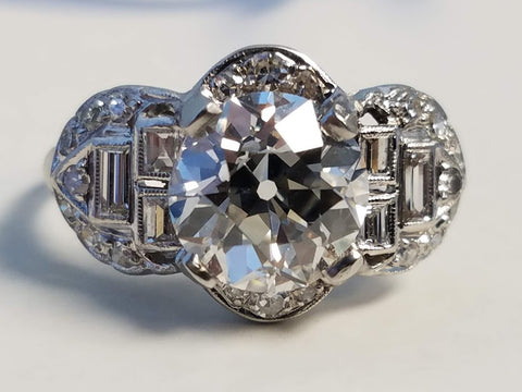 Antique Engagement Ring | Vintage Diamond Ring | Estate Jewelry | Kansas City | Overland Park Kansas