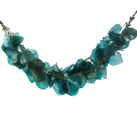 Fish Scales Necklace - Teal