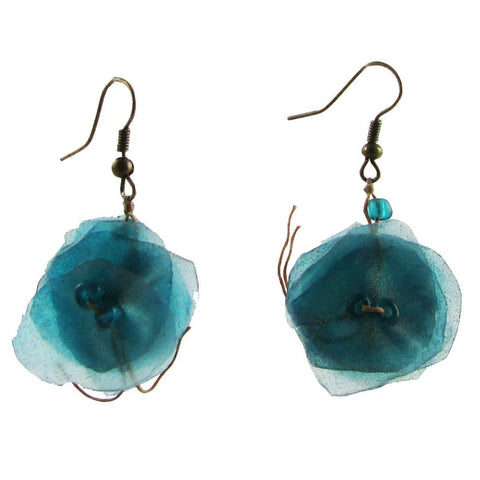 Fish Scales Earrings -Turquoise