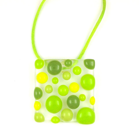 Bubbles Pendant - Lime Green