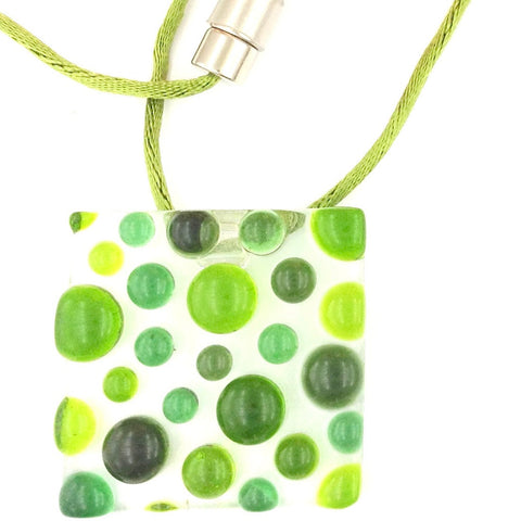 Bubbles Pendant - Green