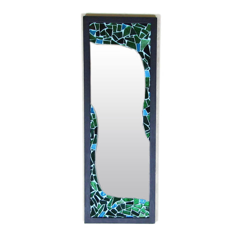 Green Mosaic Rectangular Mirror