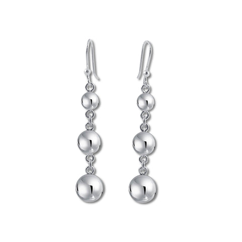 Triple Ball Graduated Earrings