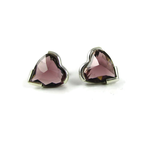 Heart Crystal Studs