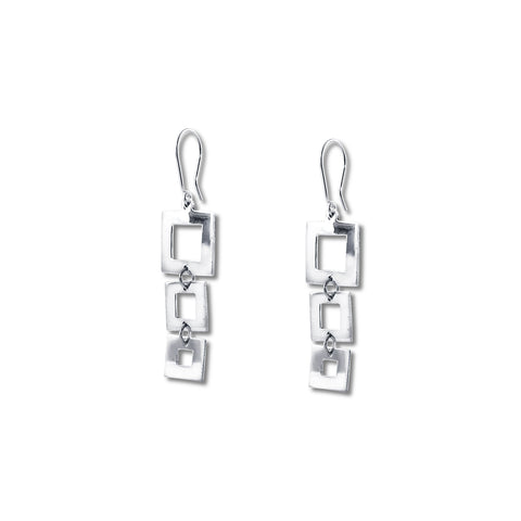 Graduated Squares Earrings