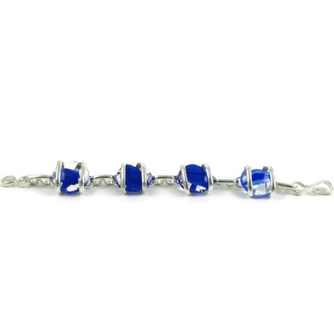 Parallel Bracelet - Blue Stripe