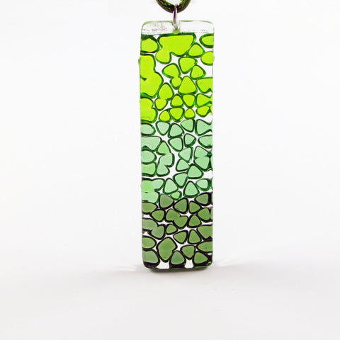 Picado Glass Pendant -Green