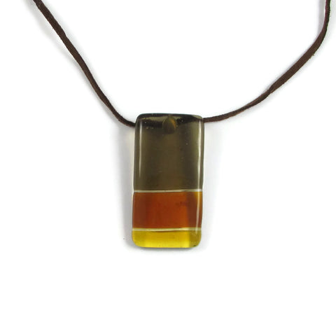 Shades Glass Pendant - Amber