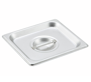 Winco SPSCS, S/S Steam Pan Cover, 1/6 Size, Solid - Kentucky Restaurant Supply