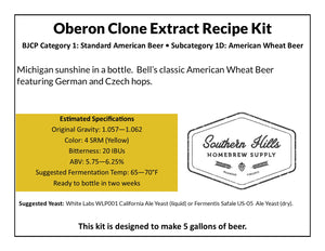 Oberon Wheat Ale Clone 5 Gallon Extract Recipe Kit
