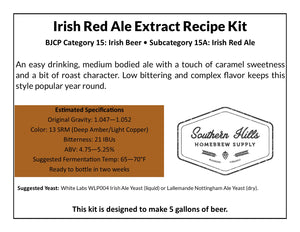 Irish Red Ale 5 Gallon Extract Recipe Kit