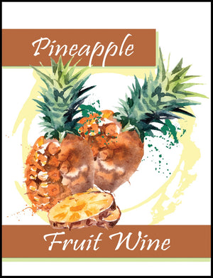 Pineapple Fruit Wine Labels - 30/Pack