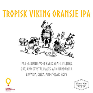 Tropisk Viking Oransje IPA 5 Gallon Partial Mash Recipe Kit