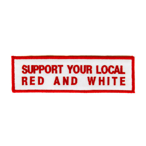 XL Red & White Supporter Patch