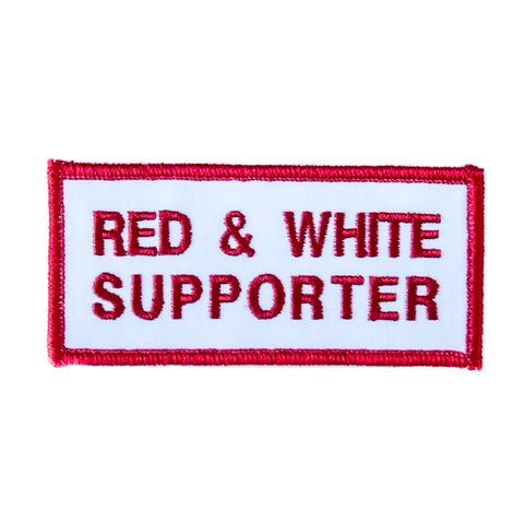 Red & White Supporter Patch