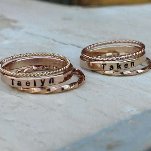 Stackable & Personalized Rings | Mix and Match | Create your own set