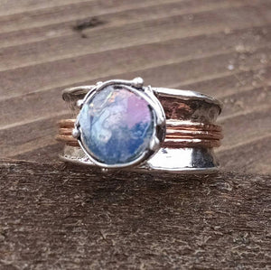 Roman Glass Spinning Meditation Ring