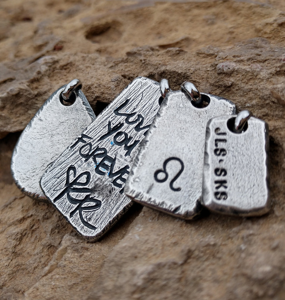 Mens Personalized Pendant | Custom Necklace Pendants | Dog Tags & Bars