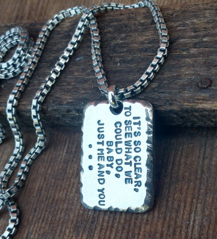 Image of Mens Personalized Pendant | Custom Necklace Pendants | Dog Tags & Bars