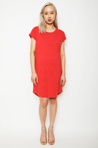 Dorsu x The Social Outfit Coral Rolled Sleeve Dress (was $69) - Last one! (XS)