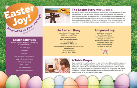 Easter Placemat (Kid Friendly)