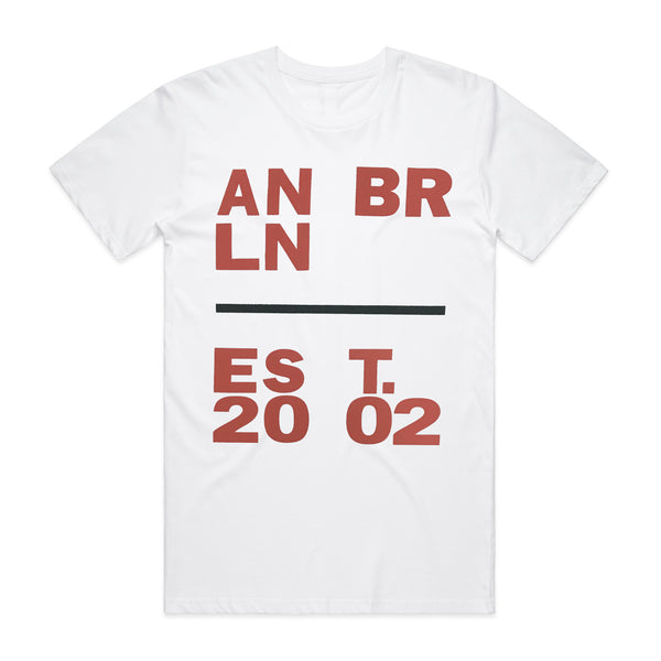 Anberlin - Est. 2002 Tee (White)