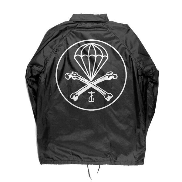 Frank Iero - Parachutes Windbreaker (Black) Back