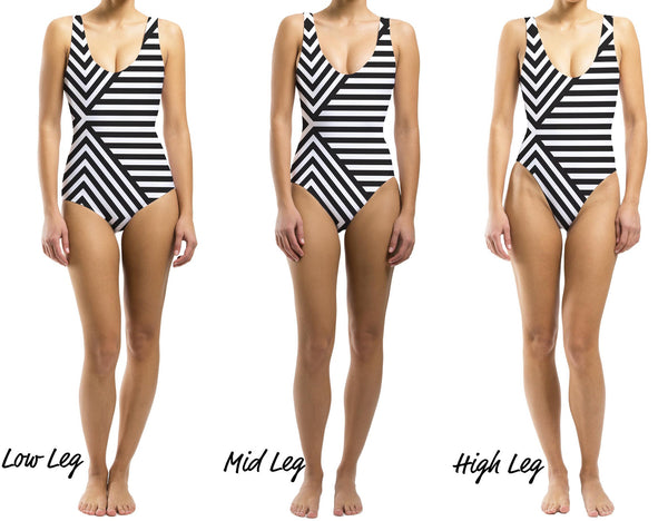 Stripe a Pose One Piece Swimsuit - Houndsditch - 2