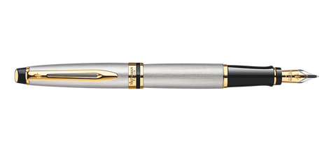 Waterman Expert Stainless Steel Fountain Pen GT