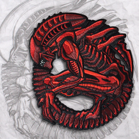 Alien RED Embroidery Morale Patch