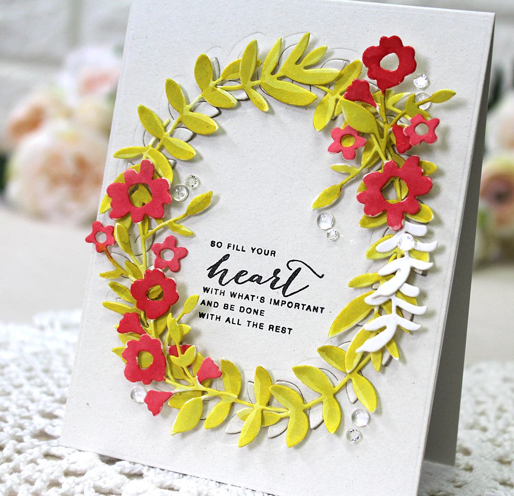 Watercolored Floral Wreath | Yoonsun Hur