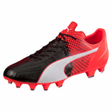 Puma evoSpeed 3.5 LTH FG soccer cleats black red