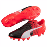Puma evoSpeed 3.5 LTH FG soccer cleats black red pair