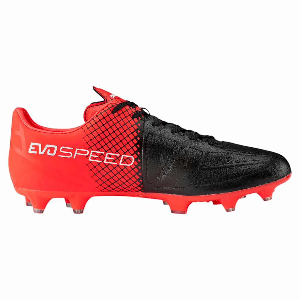 Puma evoSpeed 3.5 LTH FG soccer cleats black red lv