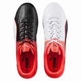 Puma evoSpeed 3.5 LTH FG soccer cleats black red pair 2